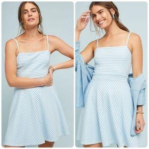Anthropologie Molly Textured Stripe Dress